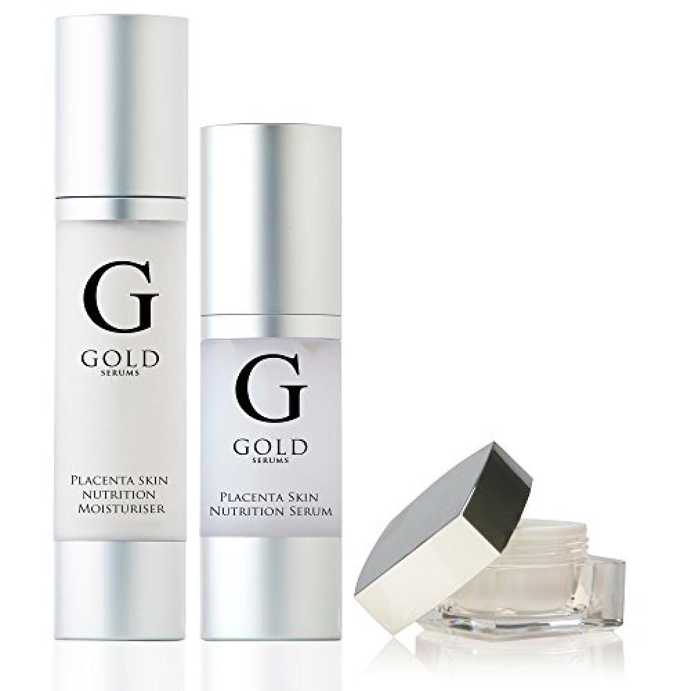 Gold Serums Placenta Serum Placenta Eye Gel and Placenta Moisturiser