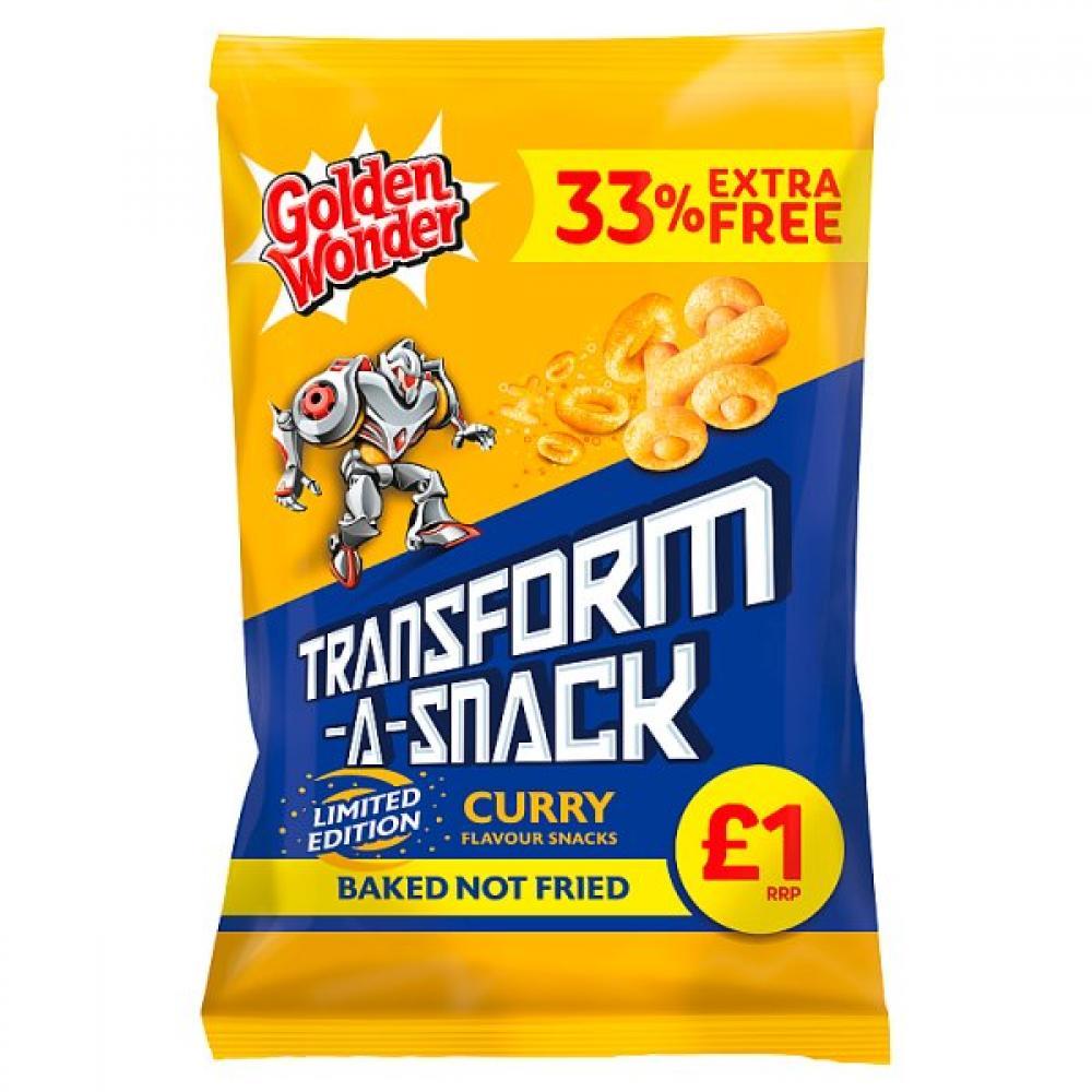 Golden Wonder Transform A Snack Curry Flavour 120g
