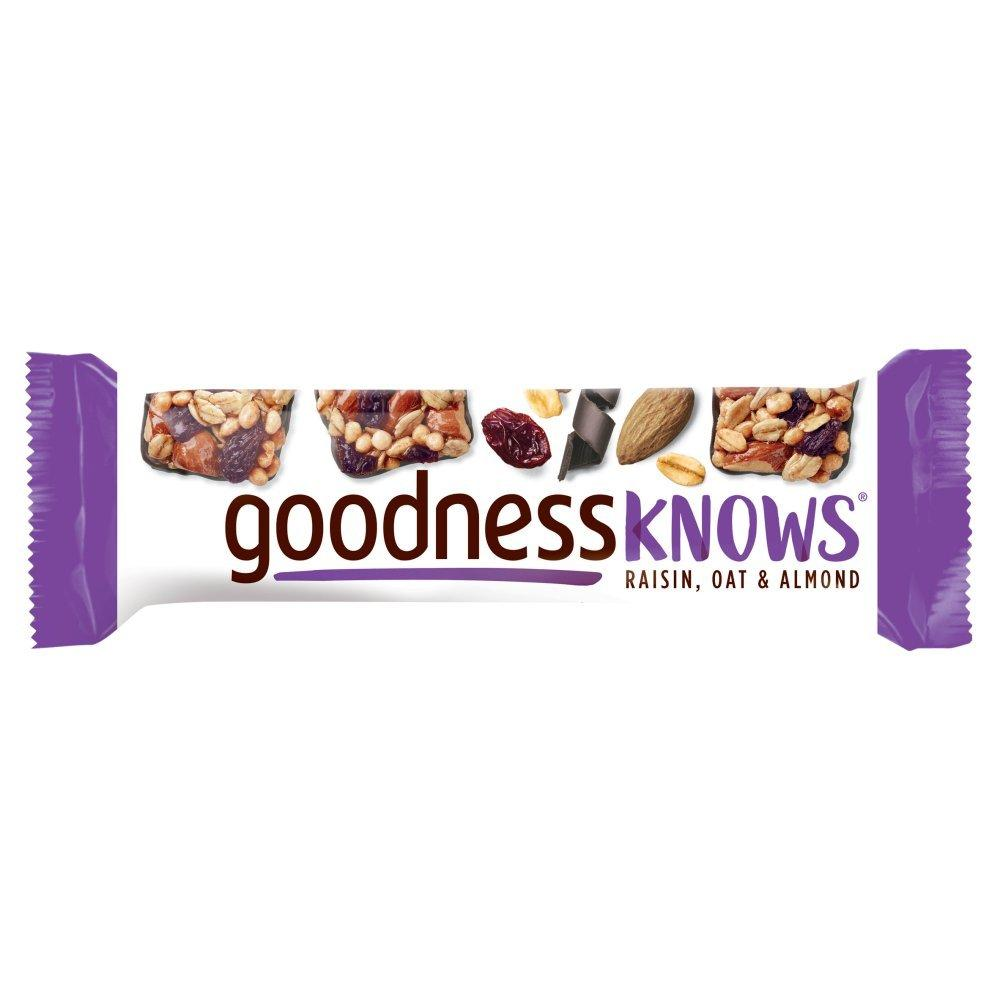 Goodness Knows Raisin Oats and Almond Bar 34g