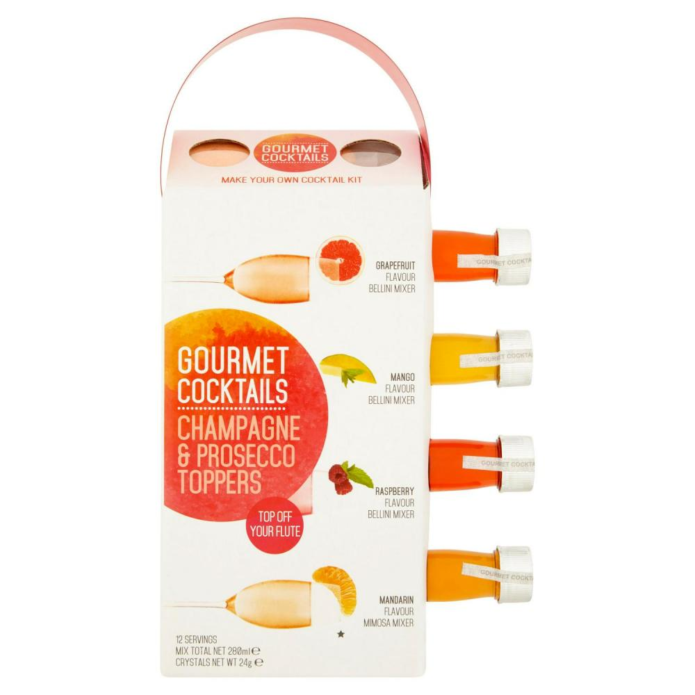 Gourmet Cocktails Champagne and Prosecco Toppers 4x70ml