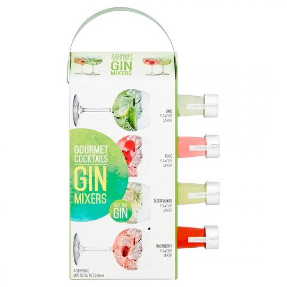 Gourmet Cocktails Gin Mixers 4x70ml