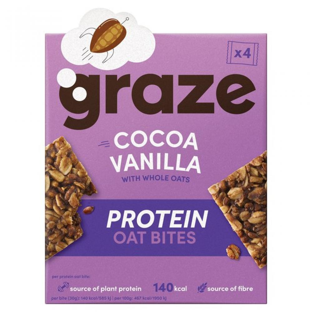 Graze Cocoa Vanilla Protein Oat Bites 4x30g