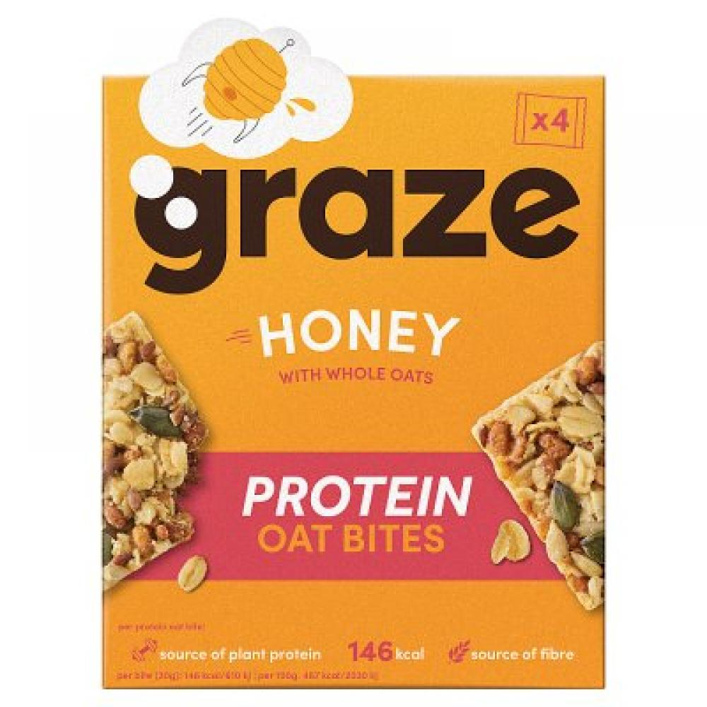 Graze Honey Protein Oat Bites 4x30g