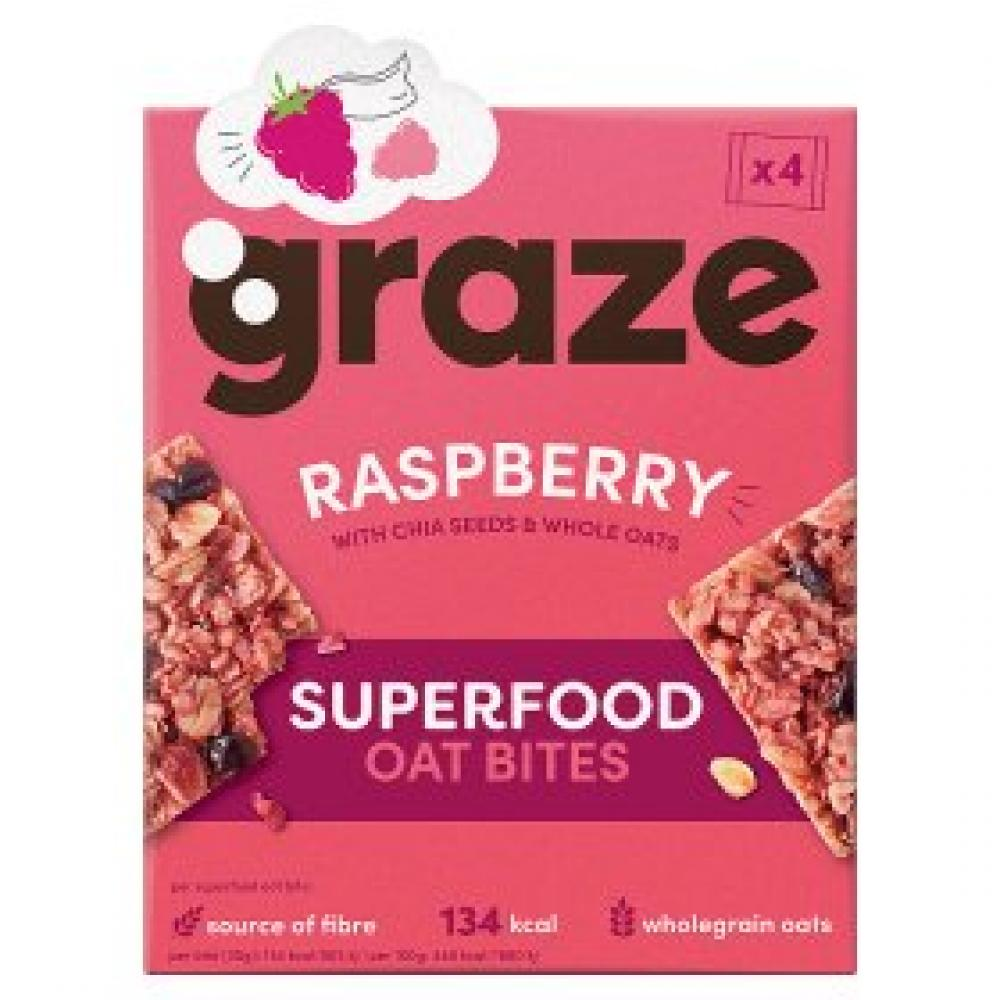 Graze Raspberry Superfood Oat Bites 4x30g