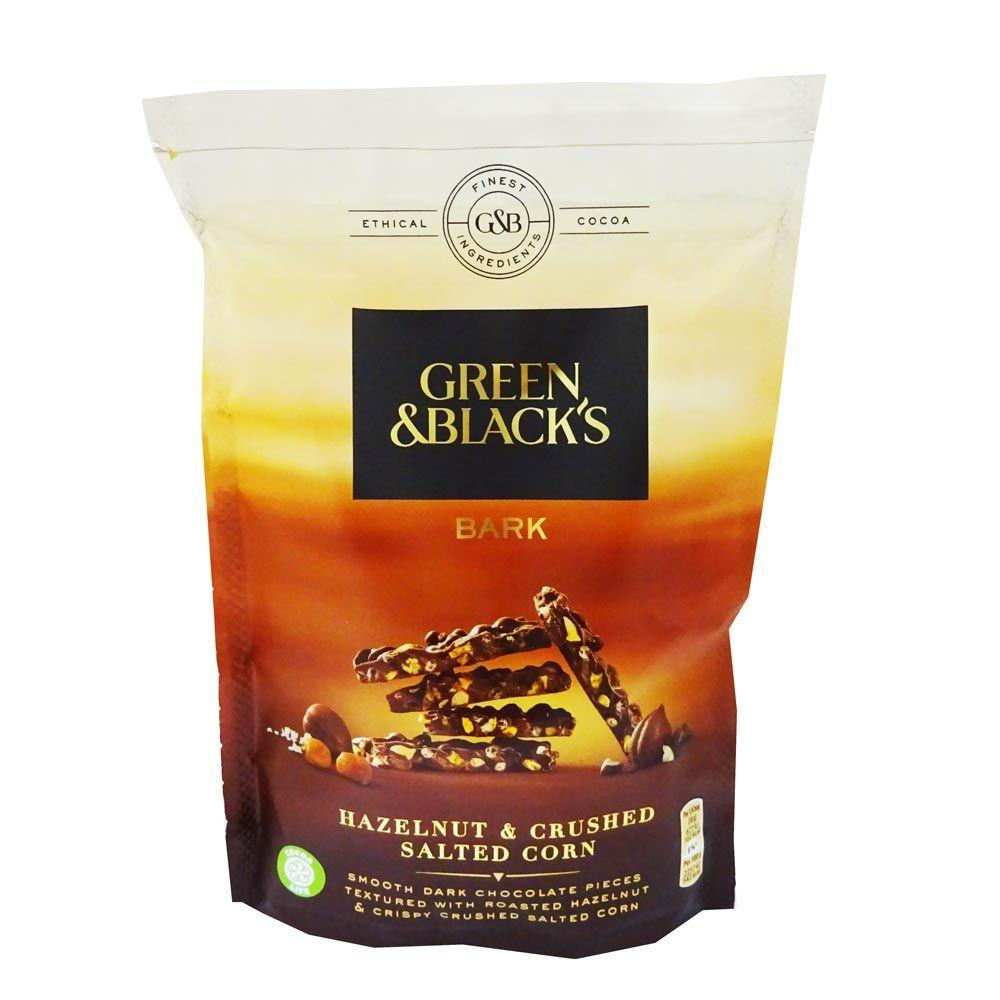 Green and Blacks Bark Hazelnut and Crushed Salted Corn 120g