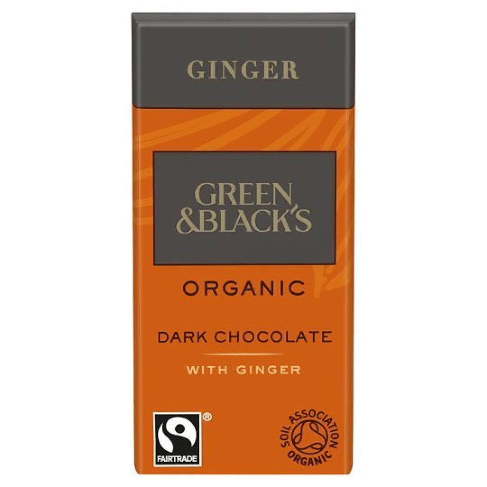 Green and Blacks Dark Chocolate 60 Percent Cocoa - Ginger 100g