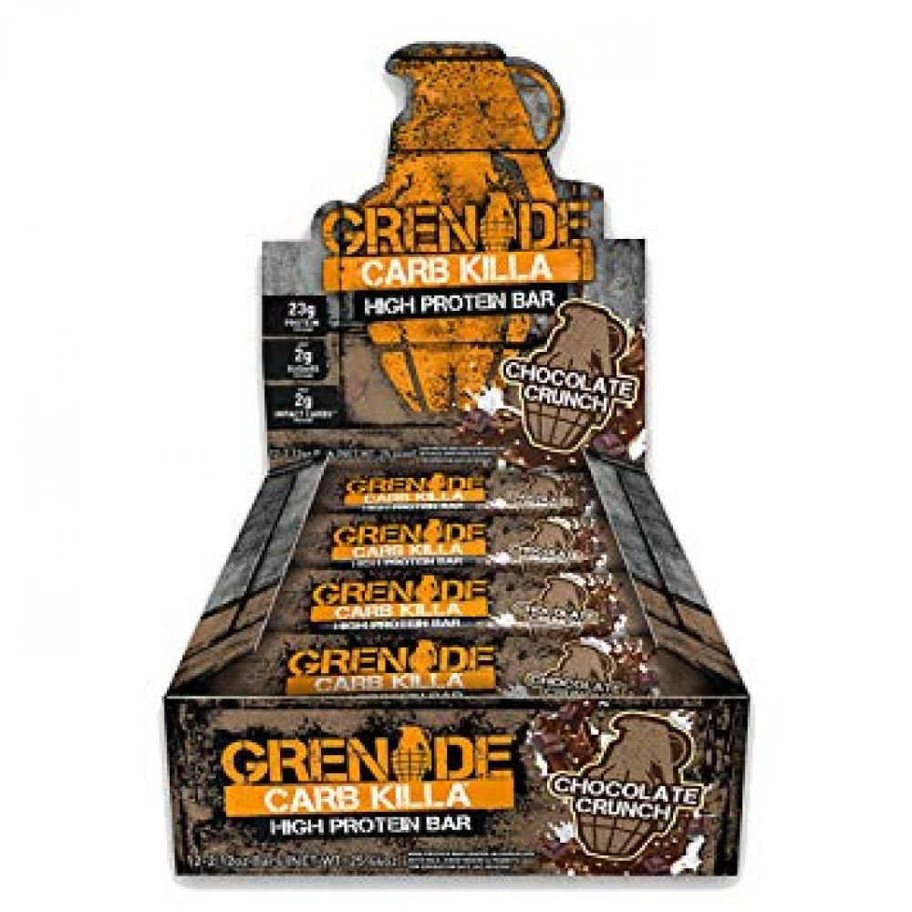 CASE PRICE  Grenade Carb Killa Chocolate Crunch Bar 12 x 60g