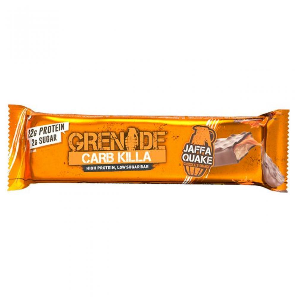 Grenade Carb Killa High Protein Bar Jaffa Quake Chocolate Orange 60g