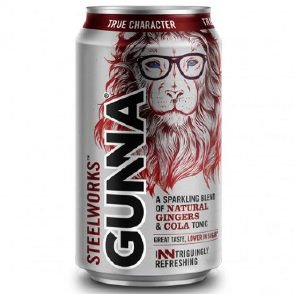 Gunna Steelworks A Sparkling Blend Of Natural Gingers And Cola Tonic 330ml