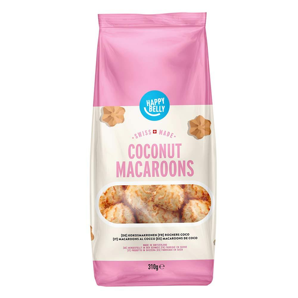 SALE  Happy Belly Swiss Made Coconut Macarons Biscuits 310 g