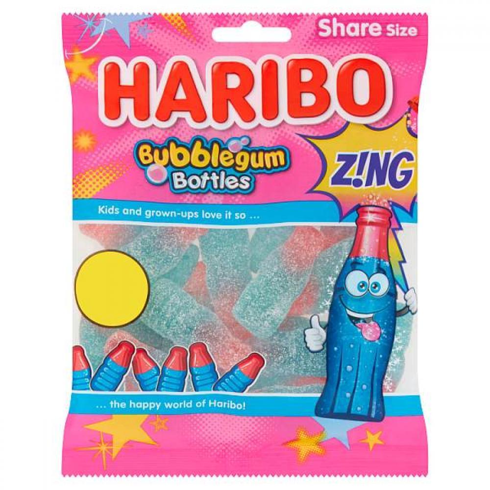 Haribo Bubblegum Bottles Zing 160g