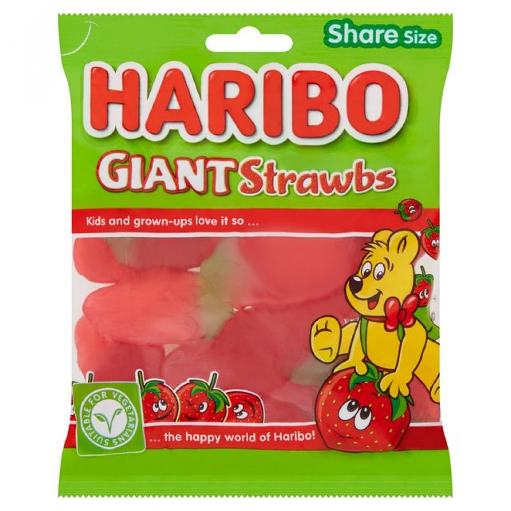 Haribo Giant Strawbs 160g