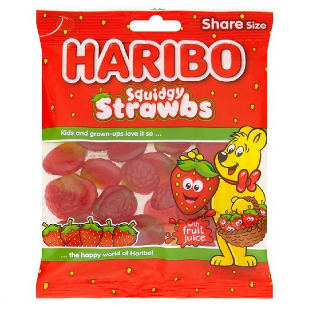 SWEETS DEAL  Haribo Squidgy Strawbs 140g