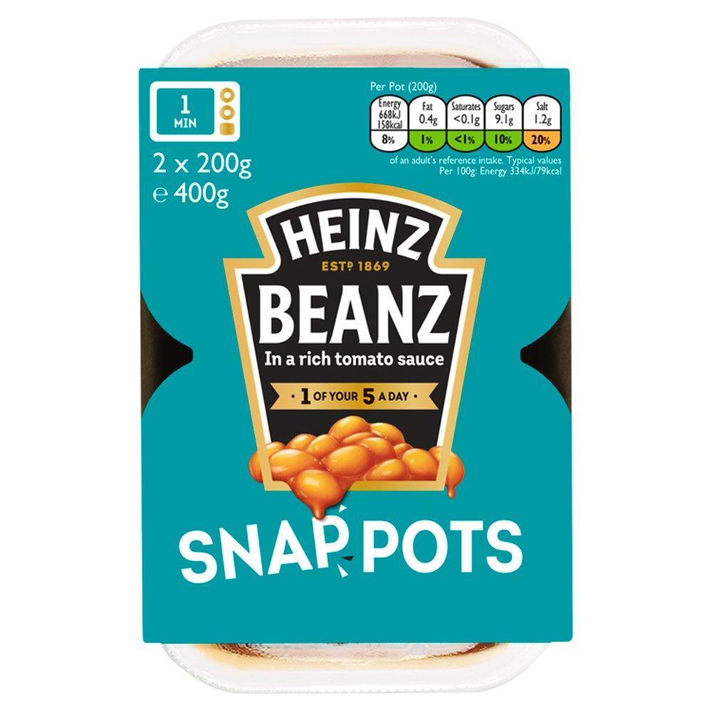 Heinz Beanz Snap Pots 2 x 200g