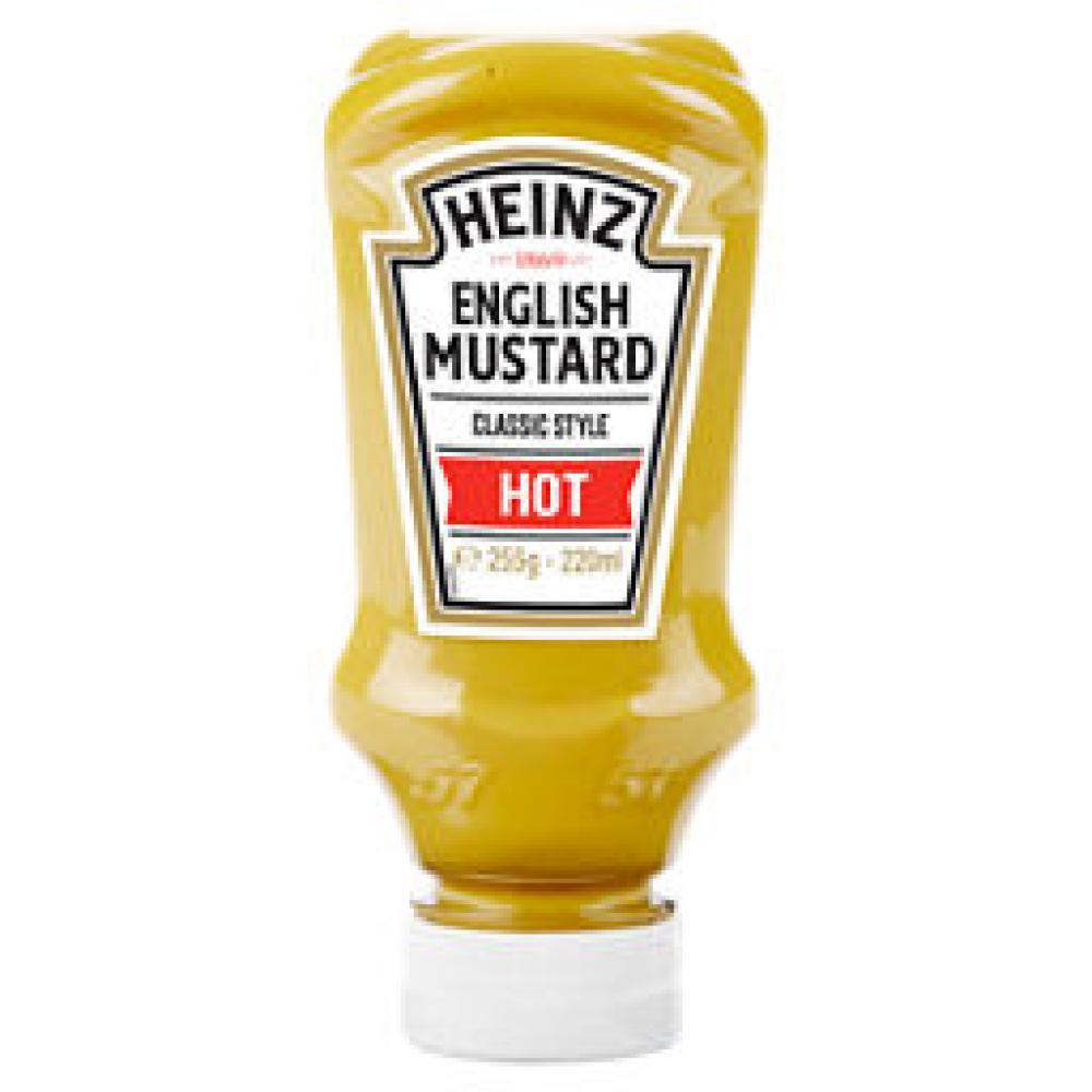 Heinz English Mustard Classic Style Hot 220ml