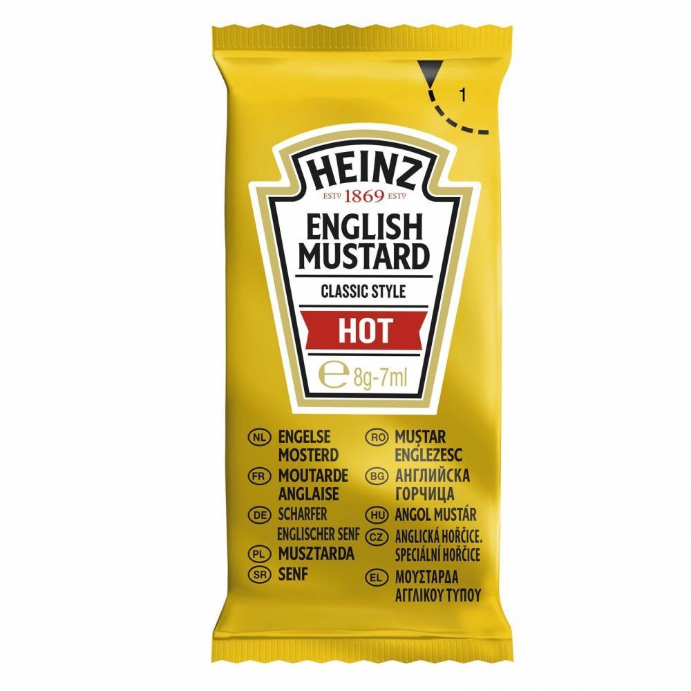 Heinz English Mustard Hot 200 x 7ml