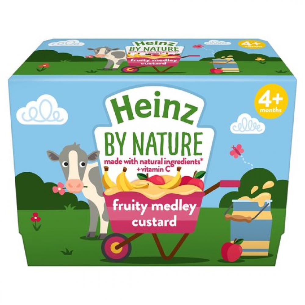 Heinz Infant Fruit Medley Custard 4x100g