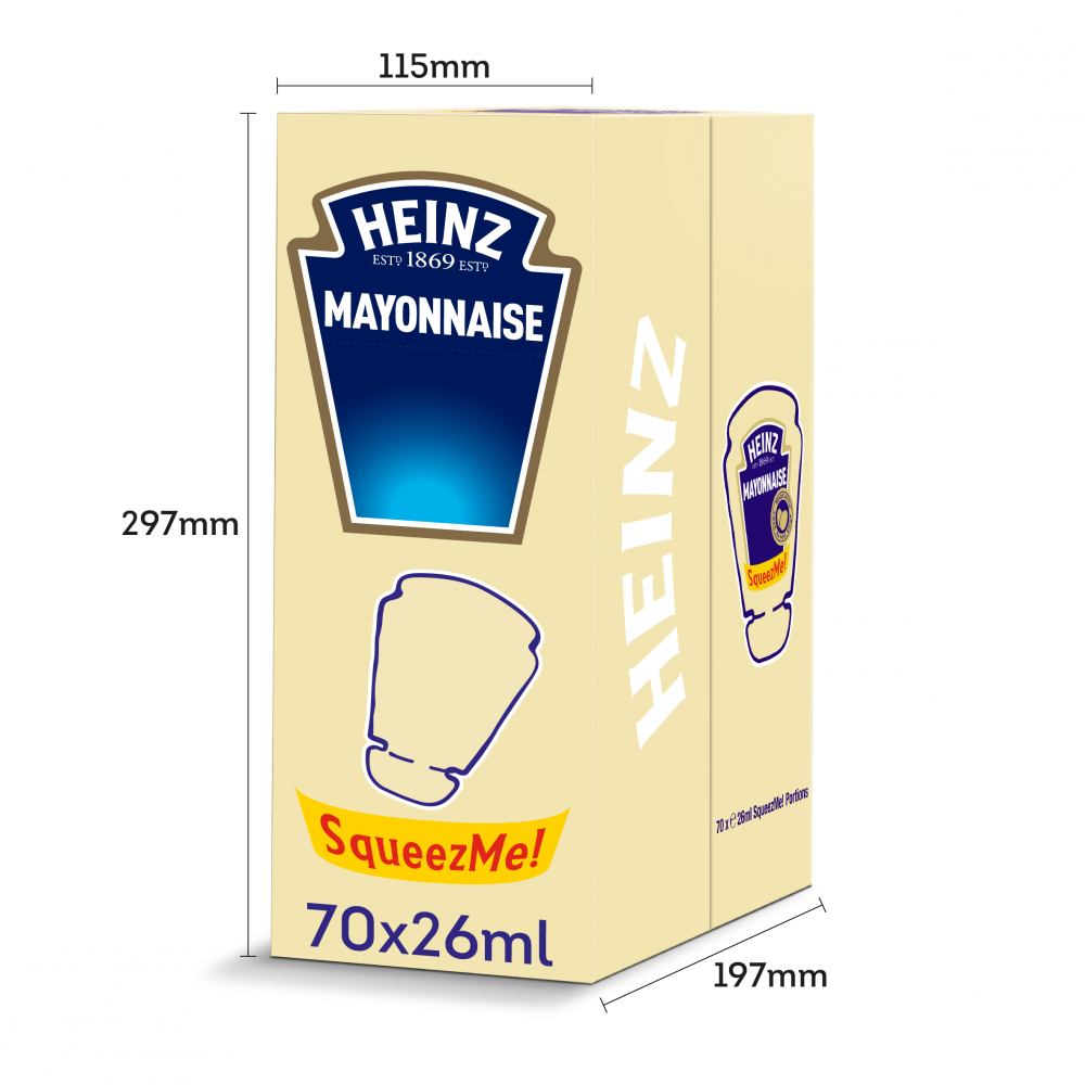 SALE  Heinz Mayonnaise SqueezMe Portions26 ml Pack of 70