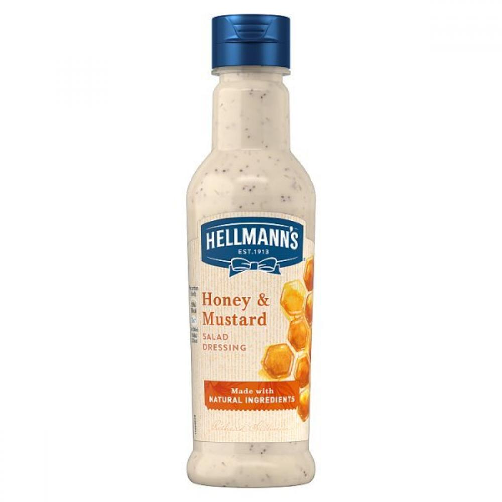 Hellmanns Honey and Mustard Salad Dressing 210ml