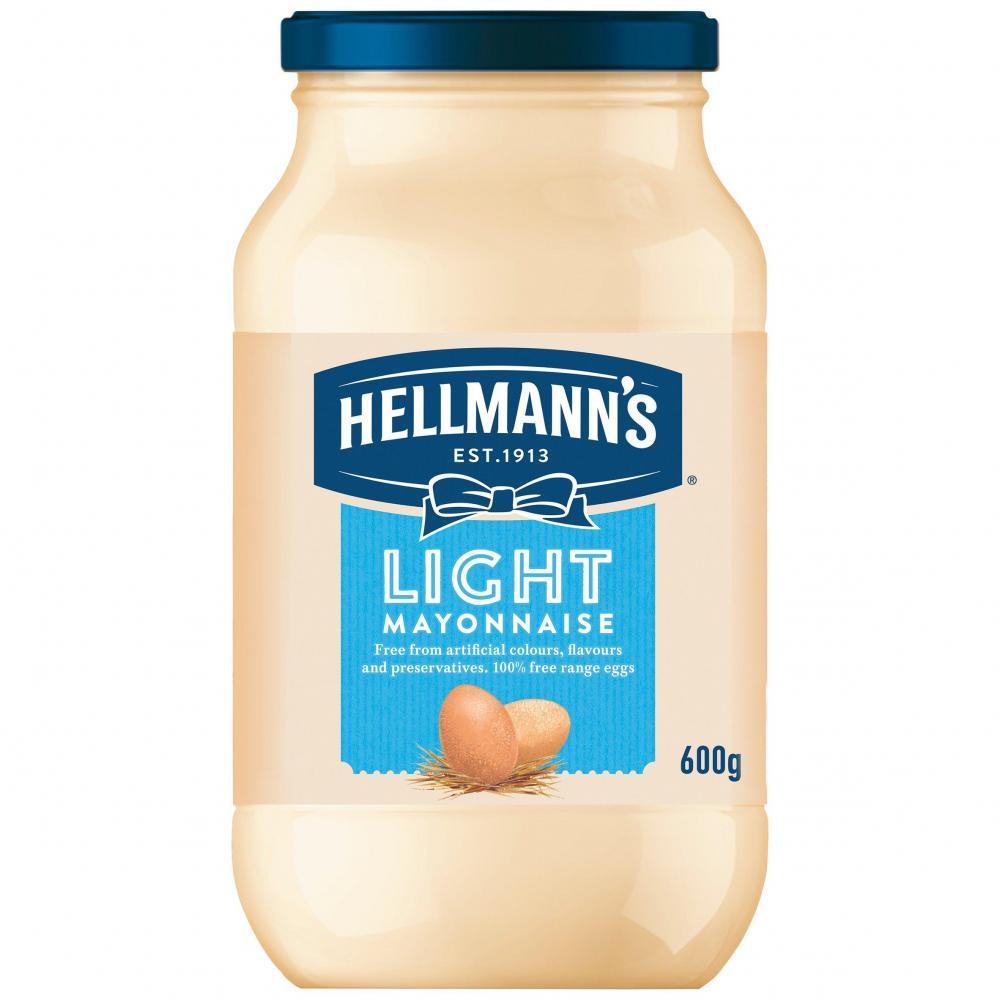 Hellmanns Light Mayonnaise 600g