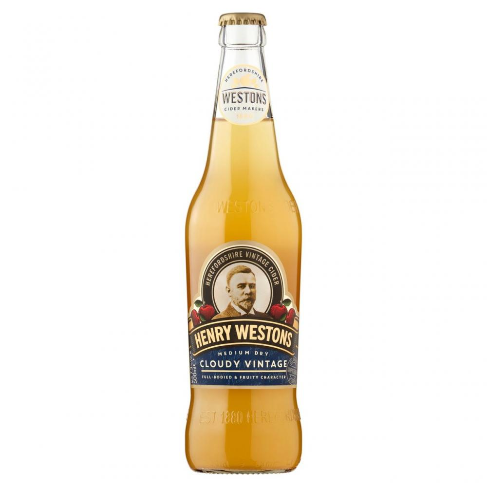 Henry Westons Cloudy Vintage Cider 500ml
