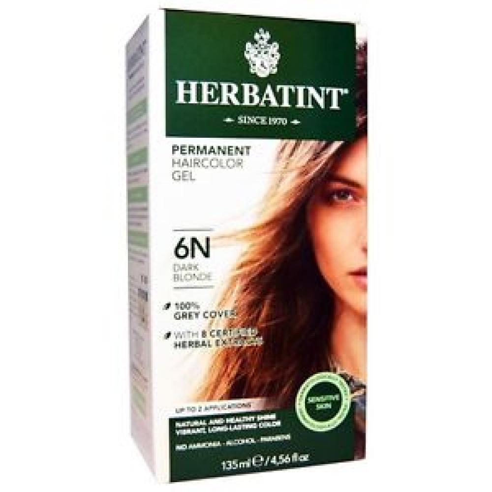 Herbatint Permanent Herbal Hair Colour Gel 6N Dark Blonde 150 ml
