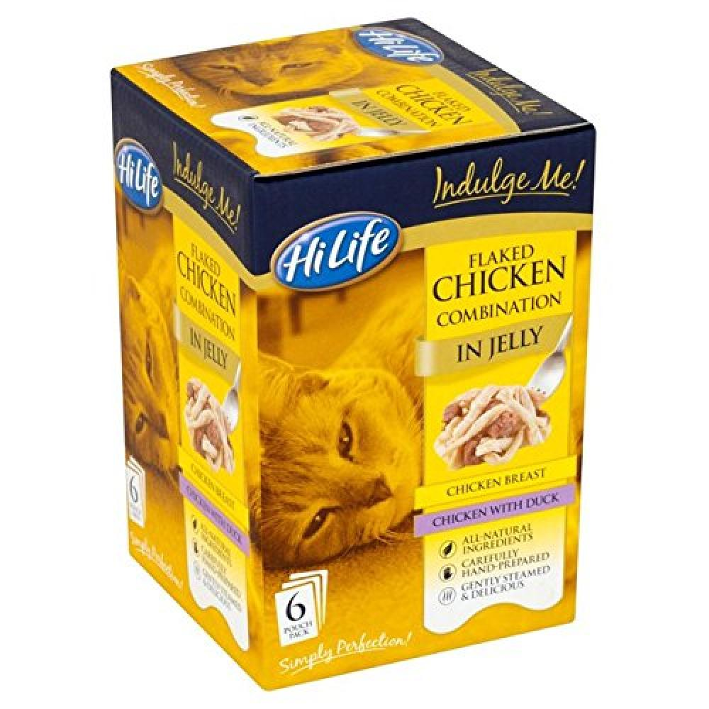 Hi Life Indulge Me Flaked Chicken Combination in Jelly 80g x 6