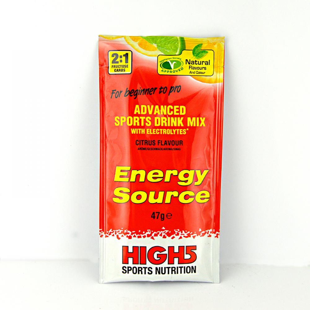 SALE  High 5 Sports Nutrition Energy Source Citrus Flavour 47g
