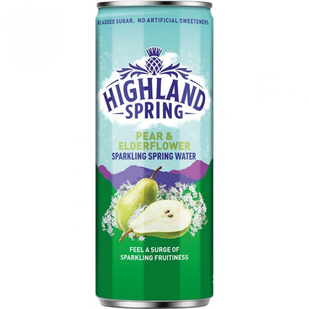 Highland Spring Sparkling Pear and Elderflower Water 330ml
