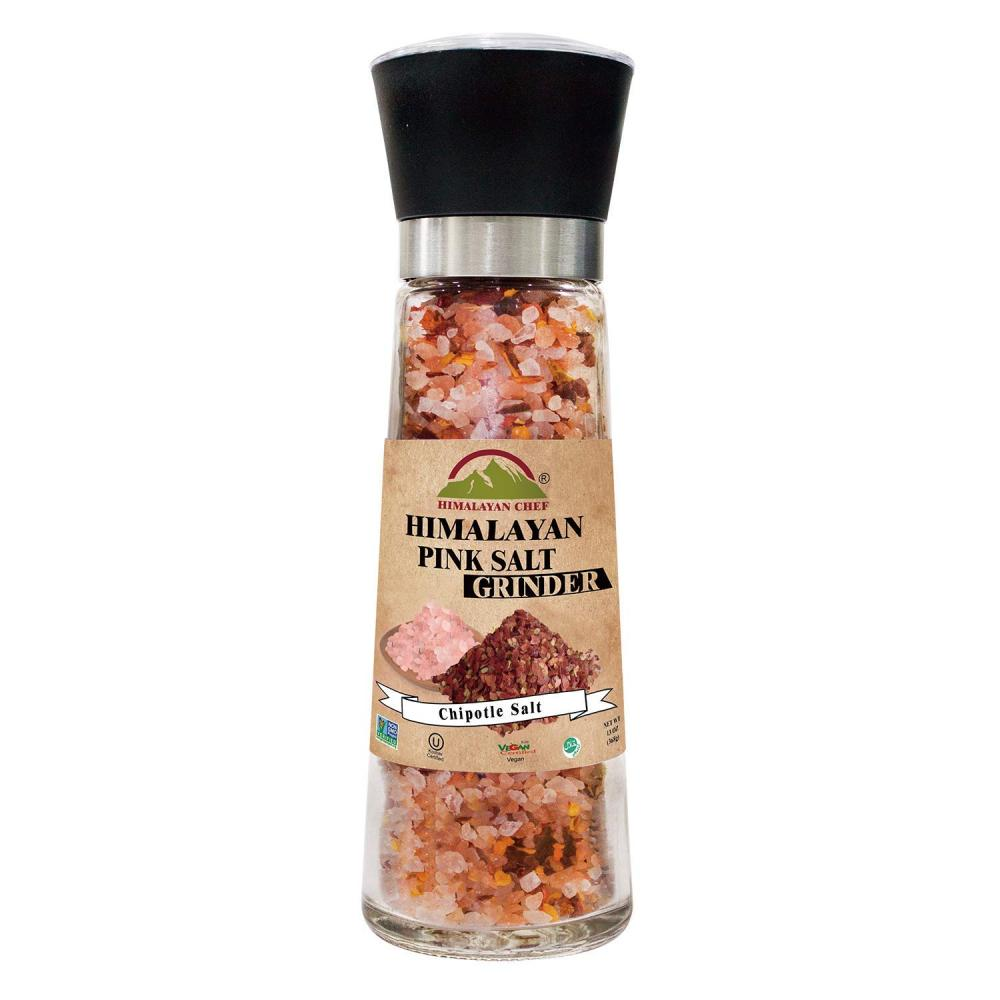 Himalayan Chef Himalayan Pink Salt And Chipotle Grinder 326g