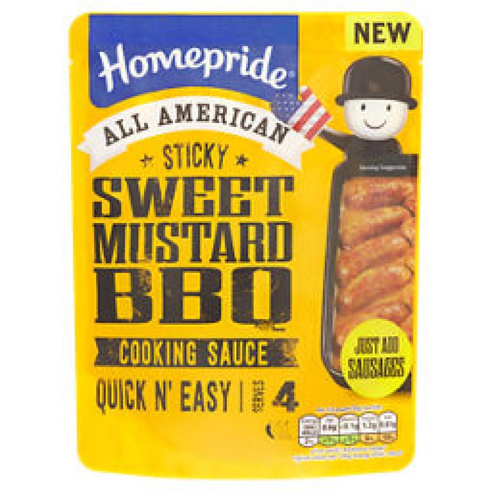 Homepride All American Sweet Mustard BBQ Cooking Sauce 200g
