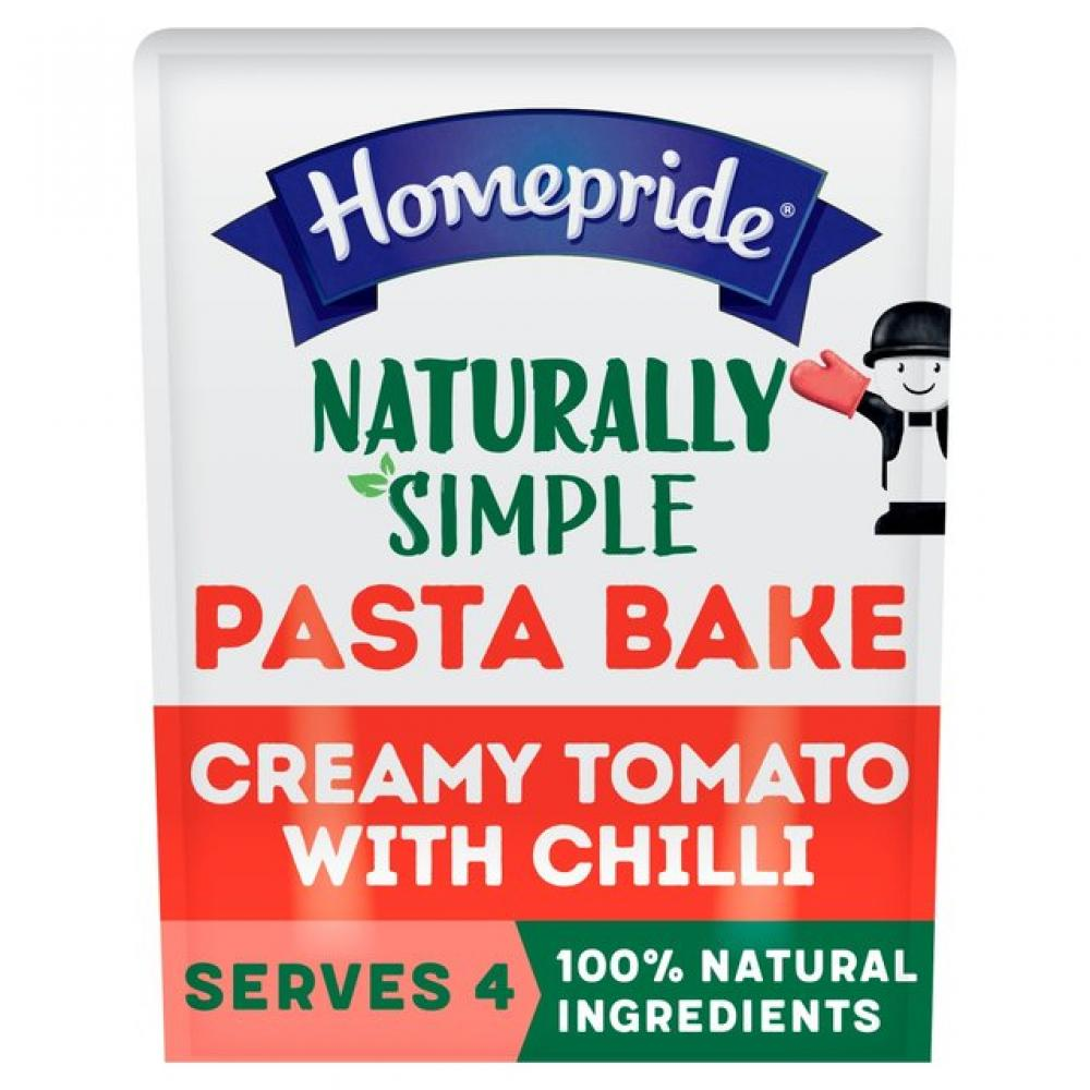 Homepride Naturally Simple Pasta Bake Sauce Creamy Tomato with Chilli 350g