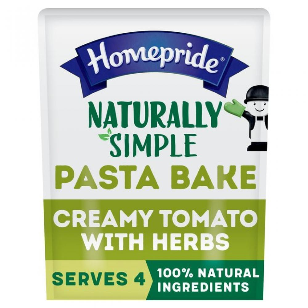 Homepride Naturally Simple Pasta Bake Sauce Creamy Tomato with Herbs 350g