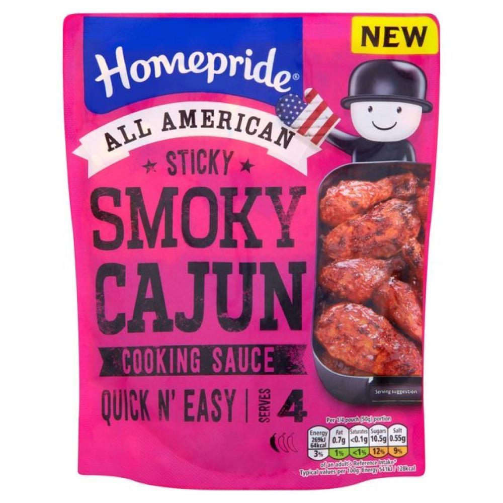 Homepride Sticky Smoky Cajun Cooking Sauce 200g