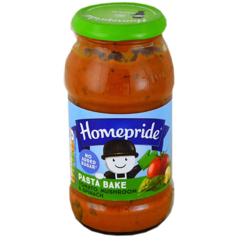 Homepride Tomato Mushroom and Spinach Pasta Bake 485g