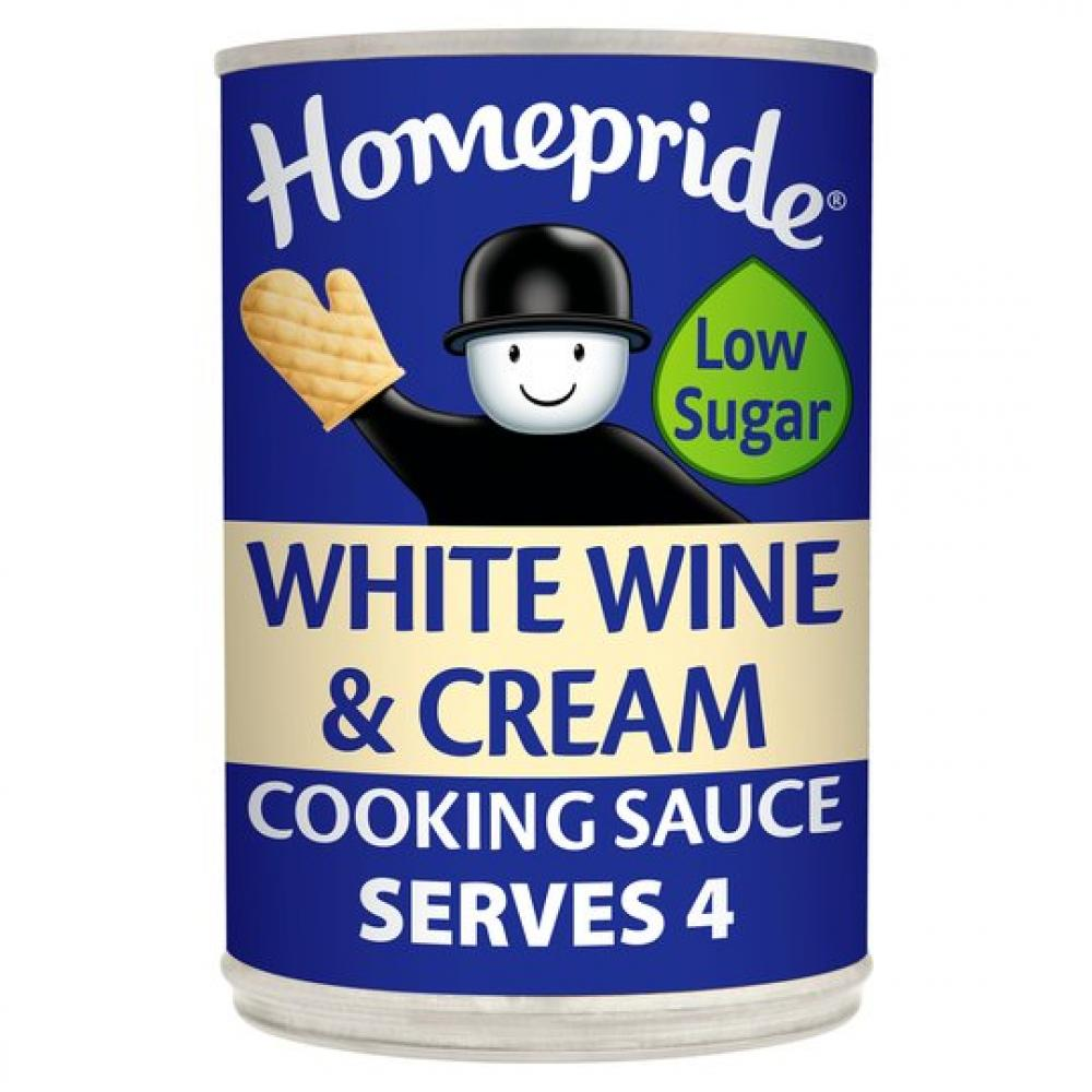 Homepride White Wine and Cream Cook In Sauce 400g