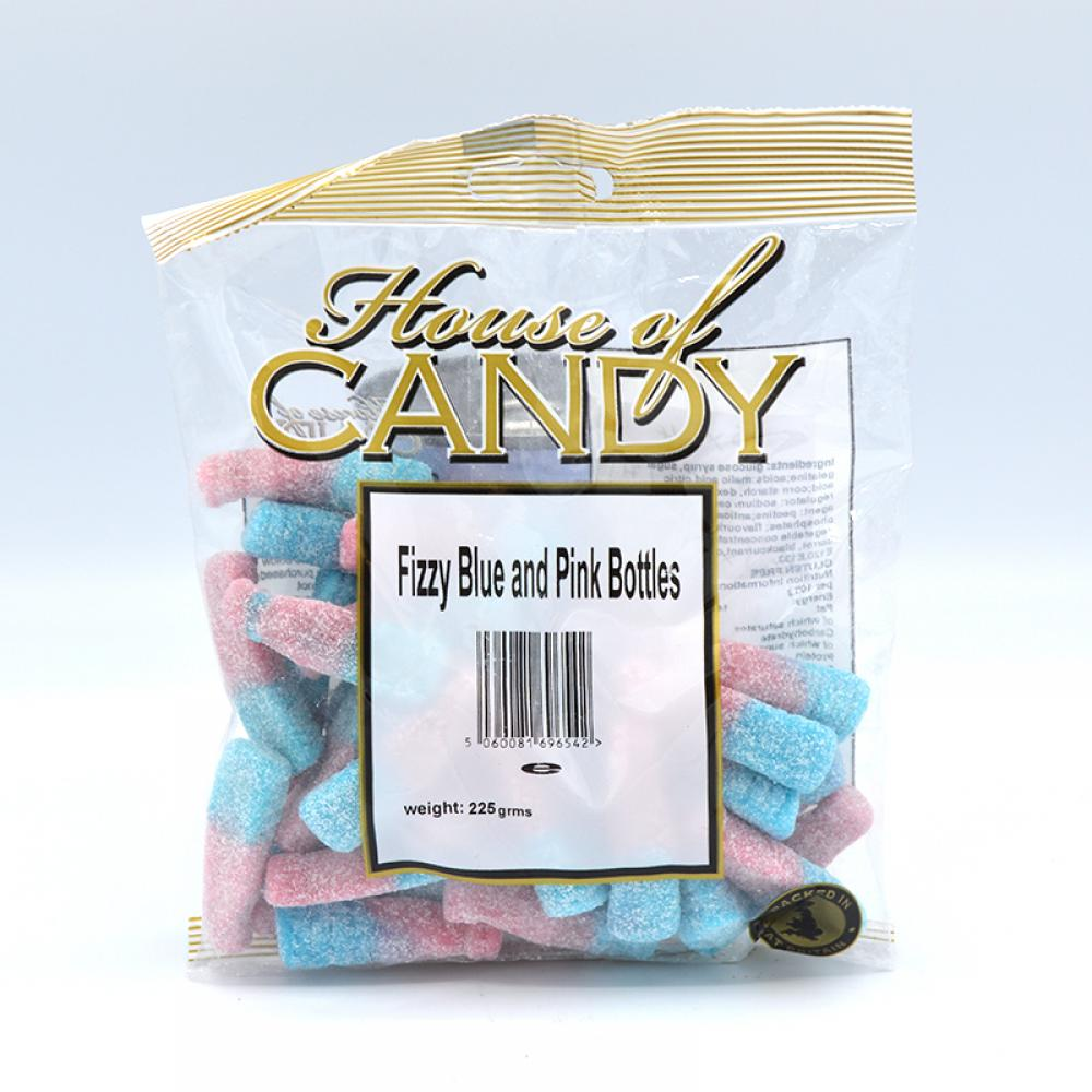 House Of Candy Fizzy Blue and Pink Bottles 225g