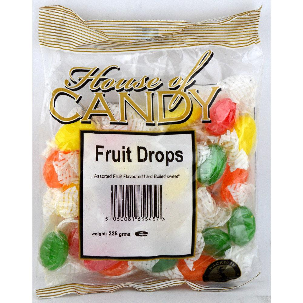 House Of Candy Fruit Drops 225g