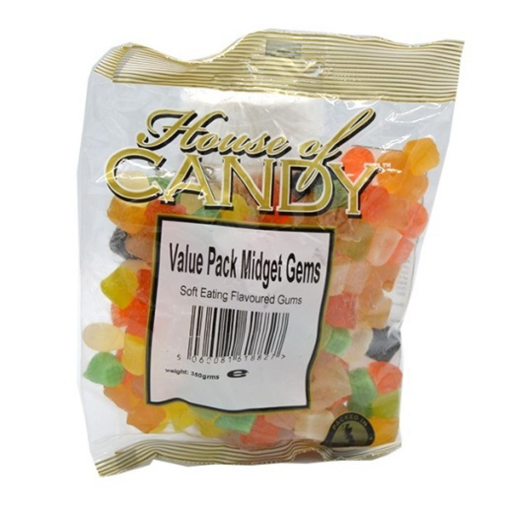 House Of Candy Value Pack Midget Gems 350g