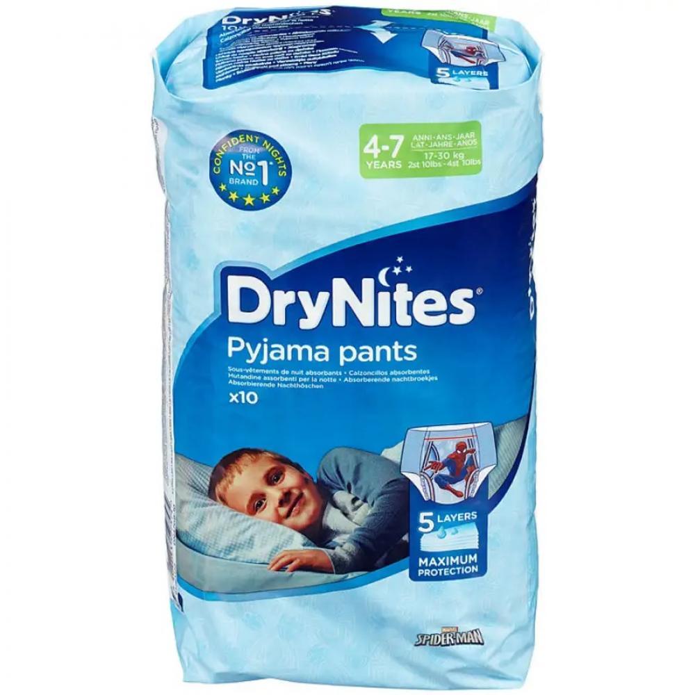 Huggies Dry Nites Pyjama Pants For Boys 4 to 7 Years 10 Pack