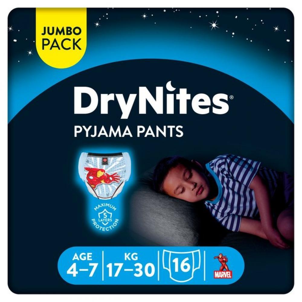 Huggies DryNites Boys Pyjama Pants 4-7 Years 16 pants