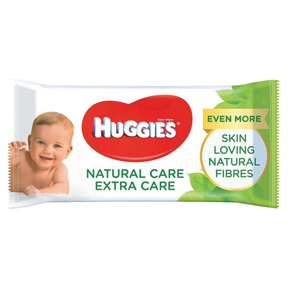 Huggies Natural Care Extra Care Baby Wipes with Aloe Vera 56 Wipes