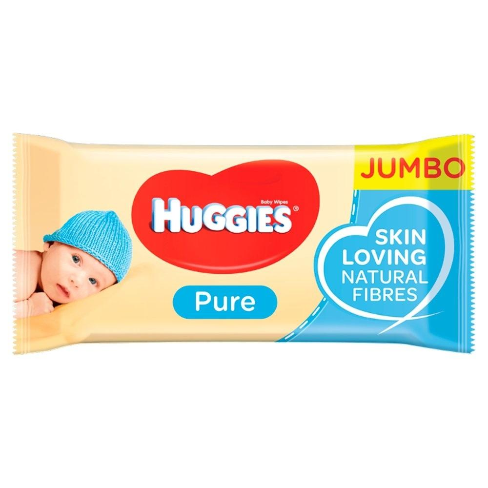 Huggies Pure Baby Wipes 72 wipes