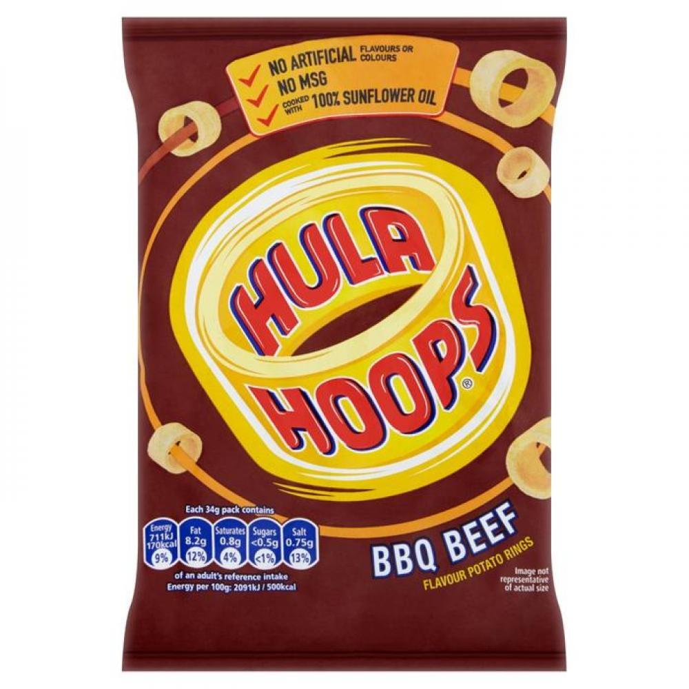 Hula Hoops Big Hoops BBQ Beef Flavour 34g