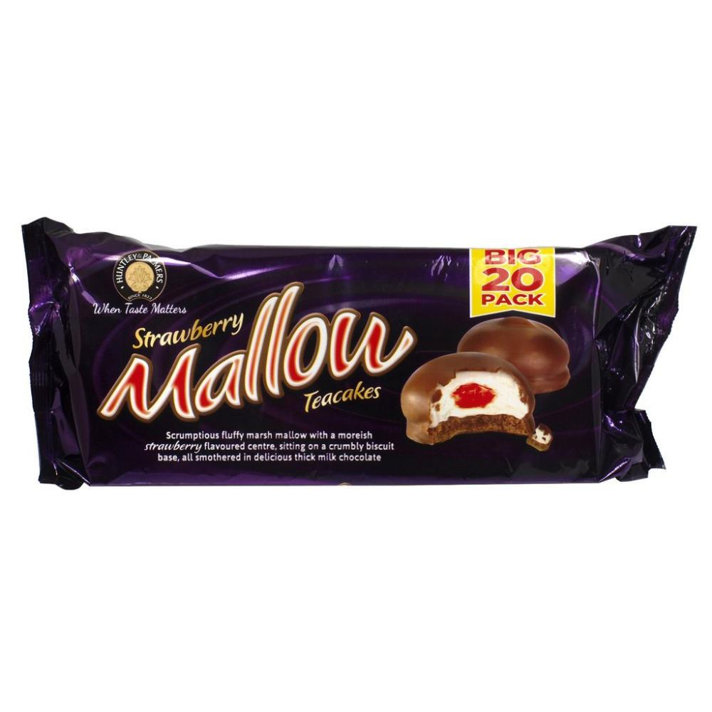 Huntley and Palmers Strawberry Mallow Teacakes 250g
