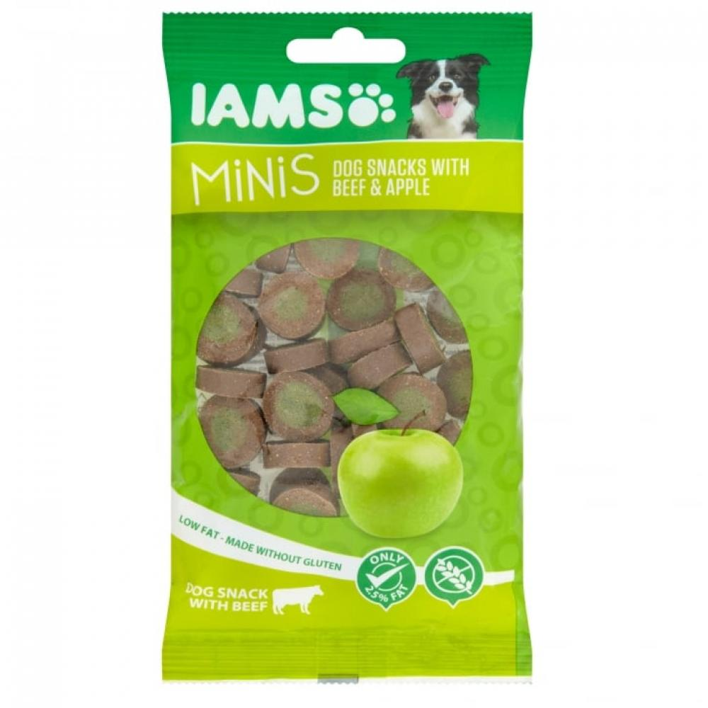 Iams Mini Dog Snacks with Beef and Apple 100g