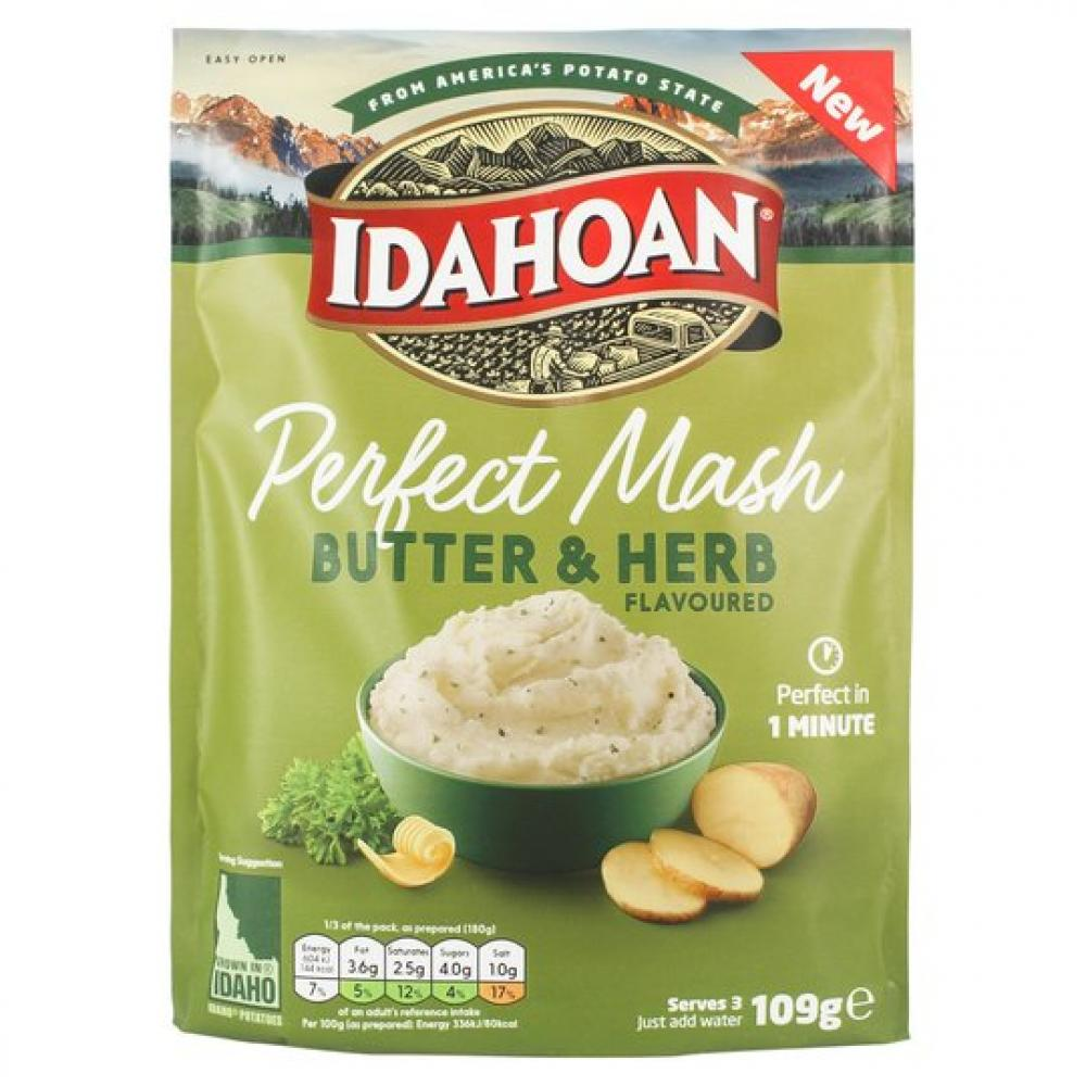 Idahoan Perfect Mash Butter and Herb 109g
