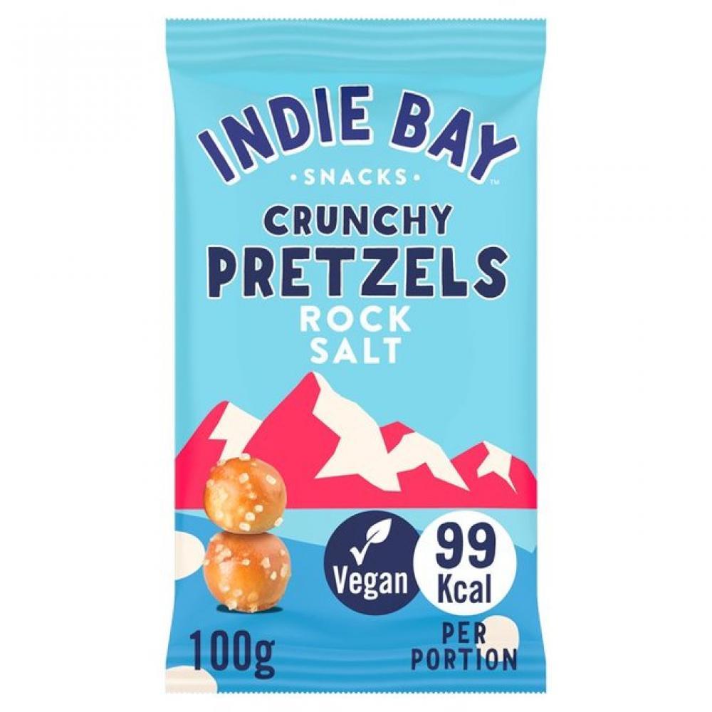 Indie Bay Crunchy Pretzels Rock Salt Spelt Bites 100 g