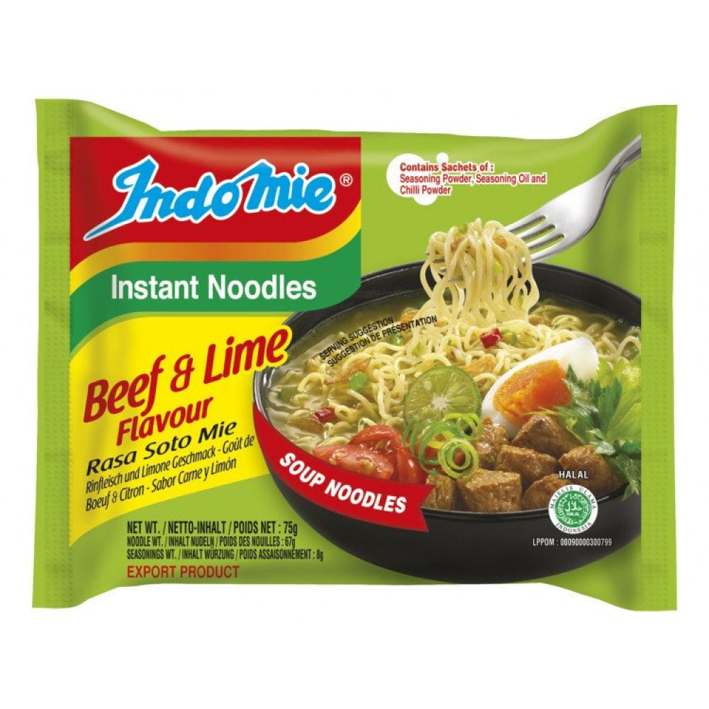 Indomie Instant Noodles Beef and Lime 75g