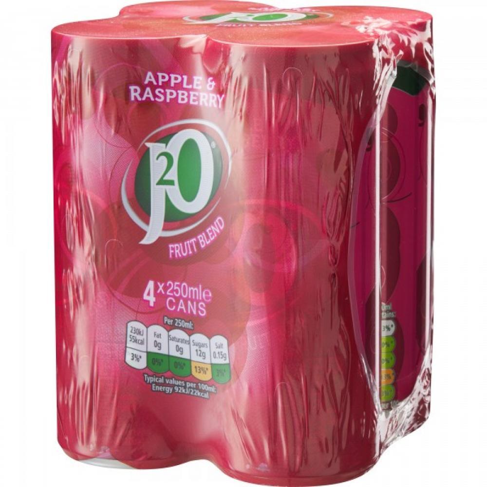 J20 Apple and Raspberry Juice Drink 250ml x 4